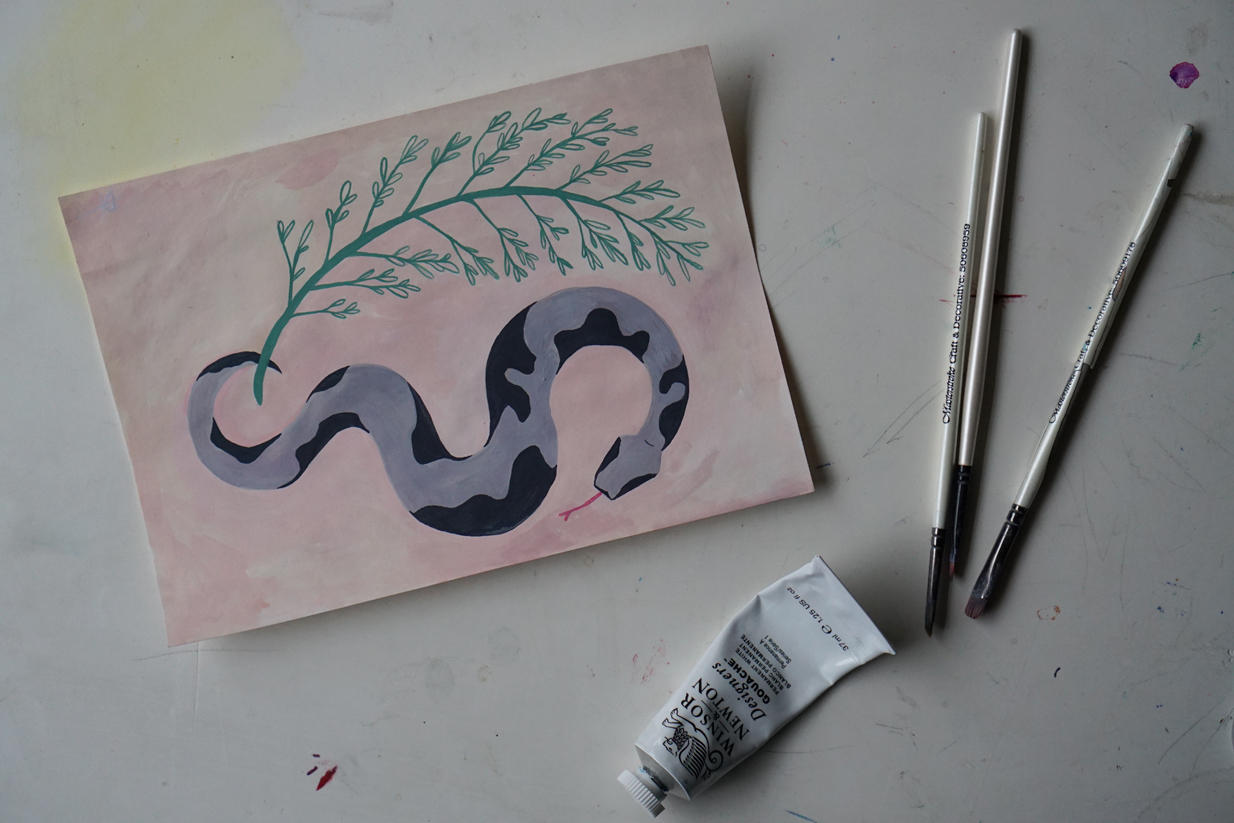Making Art, gouache paintings by Dianne Tanner