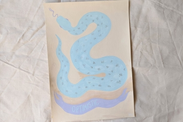 Optimism, Gouache Snake Painting